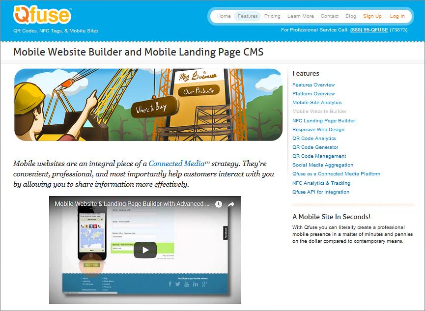 QFuse – create mobile site
